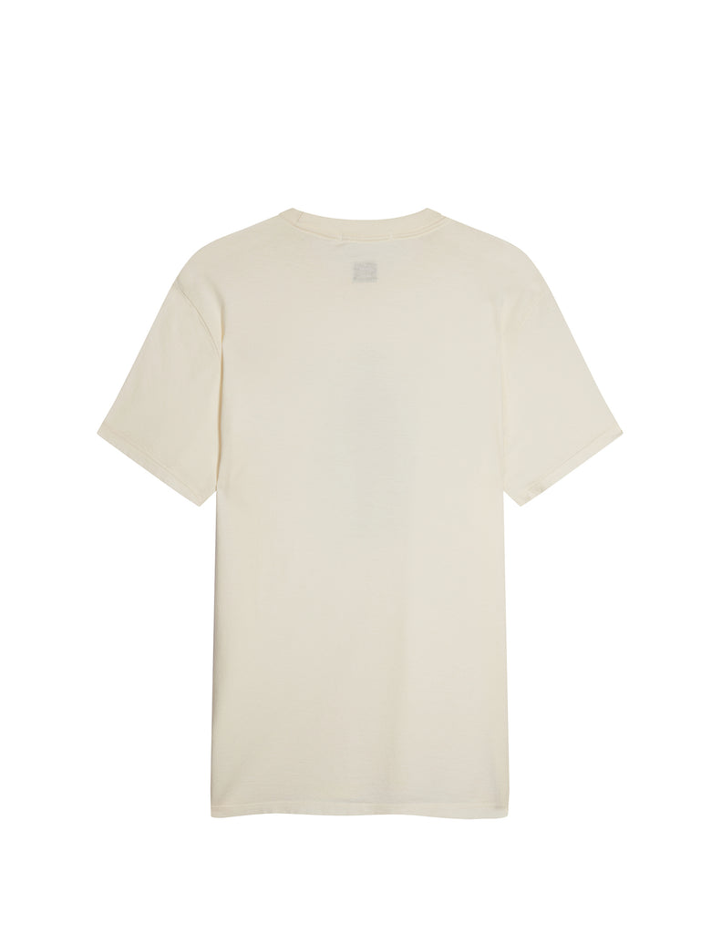 Sailor Print Mako Cotton T-Shirt in Gauze White
