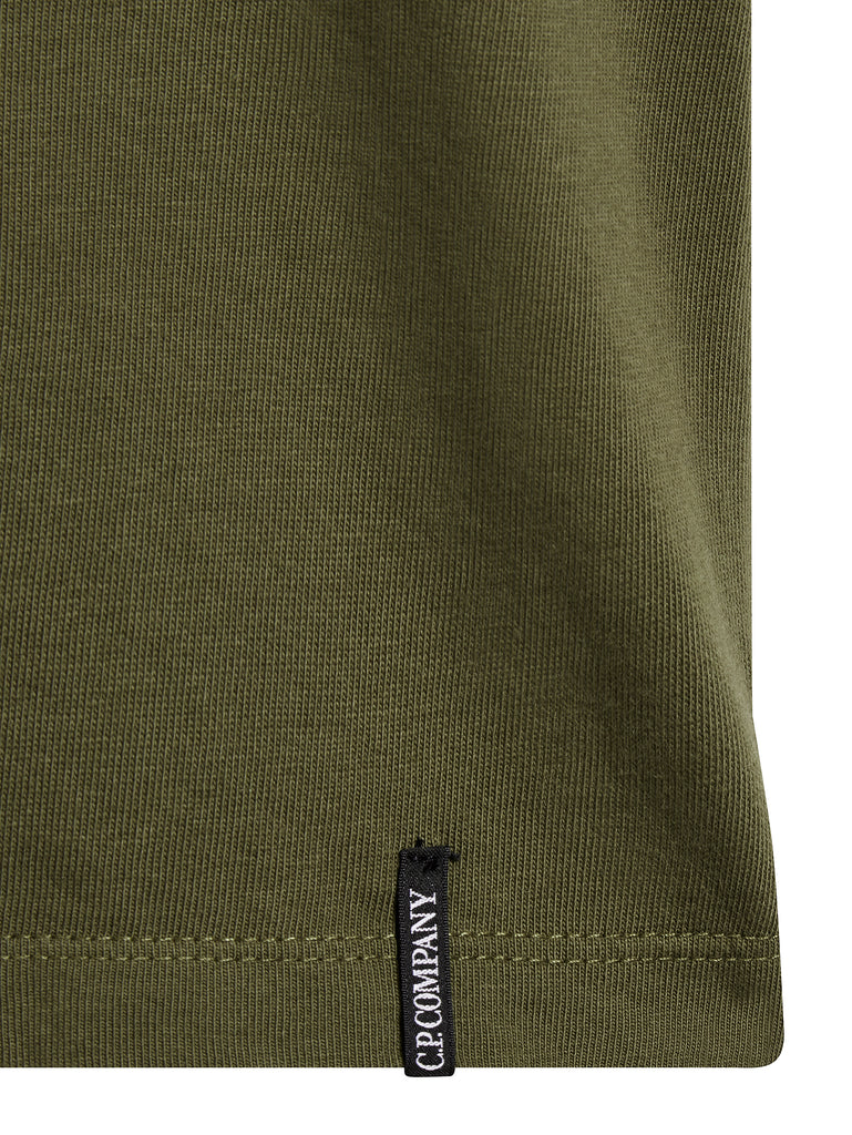 Comics Logo T-Shirt in Dark Olive