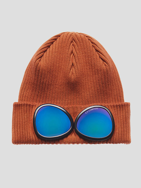 Cotton Goggle Beanie in Umber