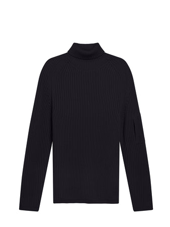 Roll Neck Sweater in Total Eclipse