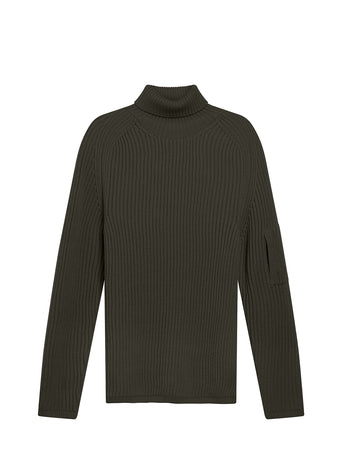 Roll Neck Sweater in Dark Fog Grey