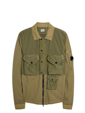 Taylon L Lens Utility Overshirt in Martini Olive