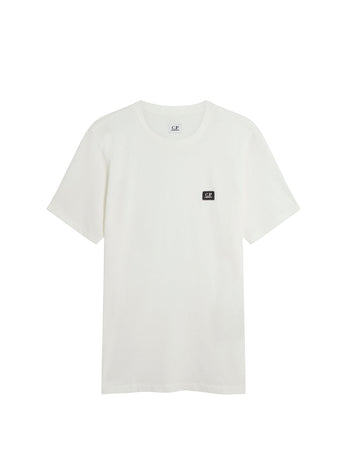 Jersey 30/1 Logo Badge T-Shirt in Gauze White