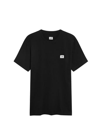 Jersey 30/1 Logo Badge T-Shirt in Black