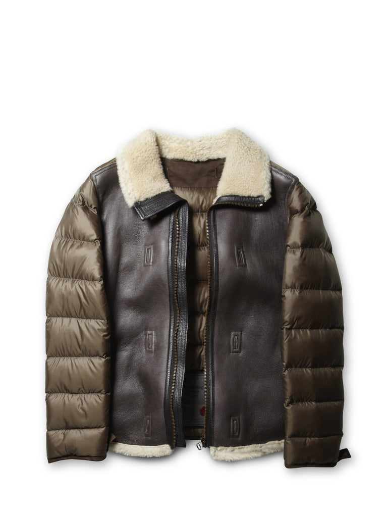 Ten c / Shearling Liner in Brown