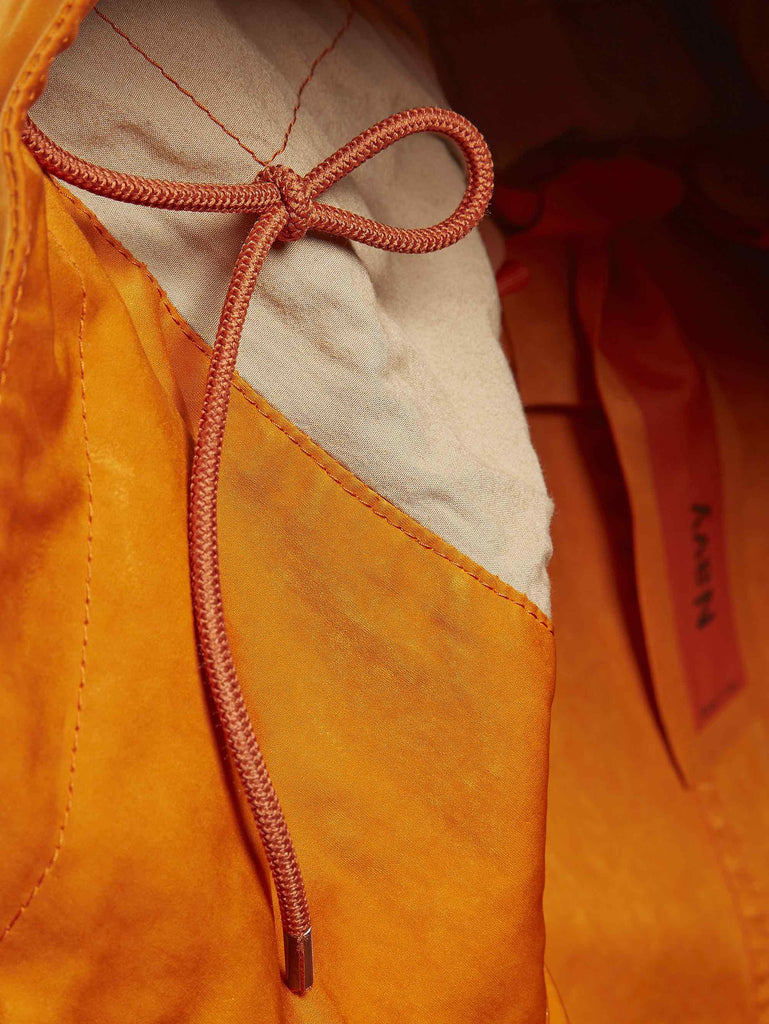 Ten c / Navy Parka in Orange
