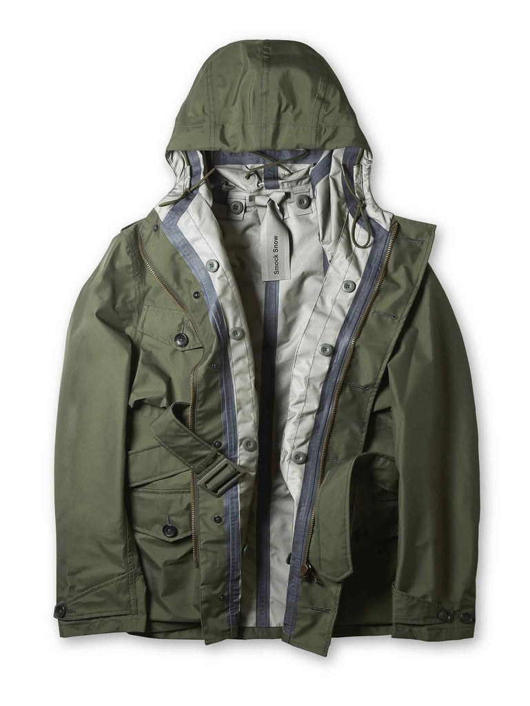 Ten c / NASTRATO Smock Snow Jacket in Green