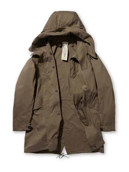 Ten C Cotton Parka in Green
