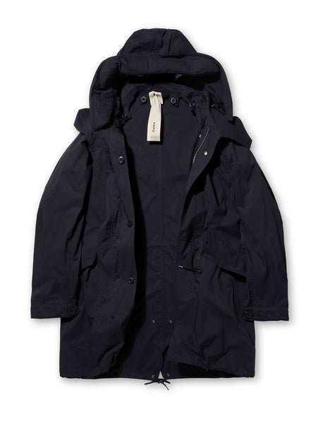 Ten C Cotton Parka in Black