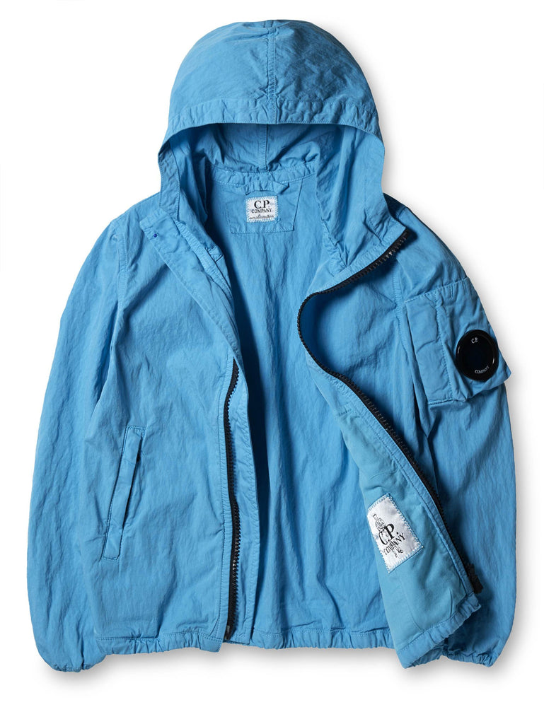 Undersixteen Cotton/Nylon Two-Way Zip Cagoule With Lens in Blue