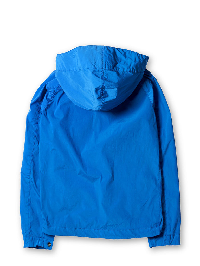 Undersixteen Stretch Nylon Pocket Viewer Jacket with Hood in Blue