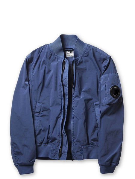 Undersixteen Stretch Nylon Shell MA1 Bomber Jacket in Blue