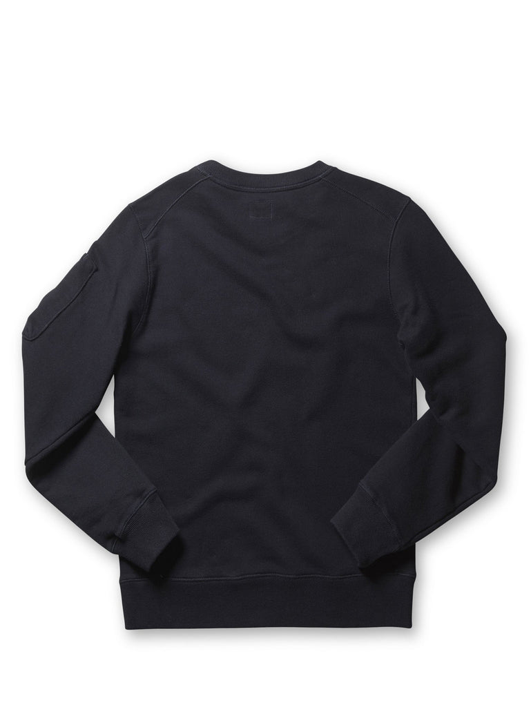 Undersixteen Crew neck Arm Lens Sweatshirt in Blue