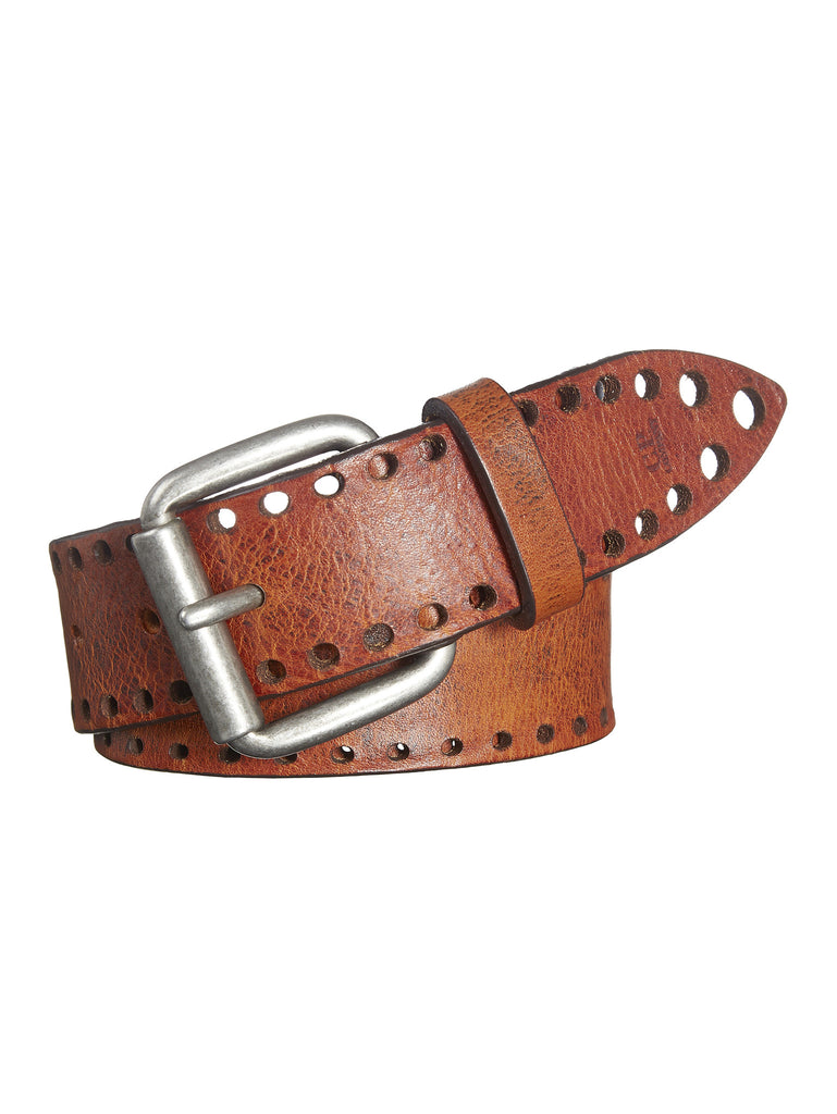 C.P.Company Perforated Leather Belt in Light Brown