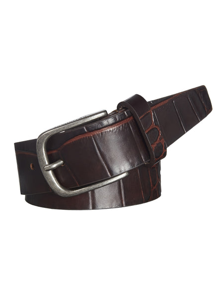 C.P.Company Leather Belt in Dark Brown