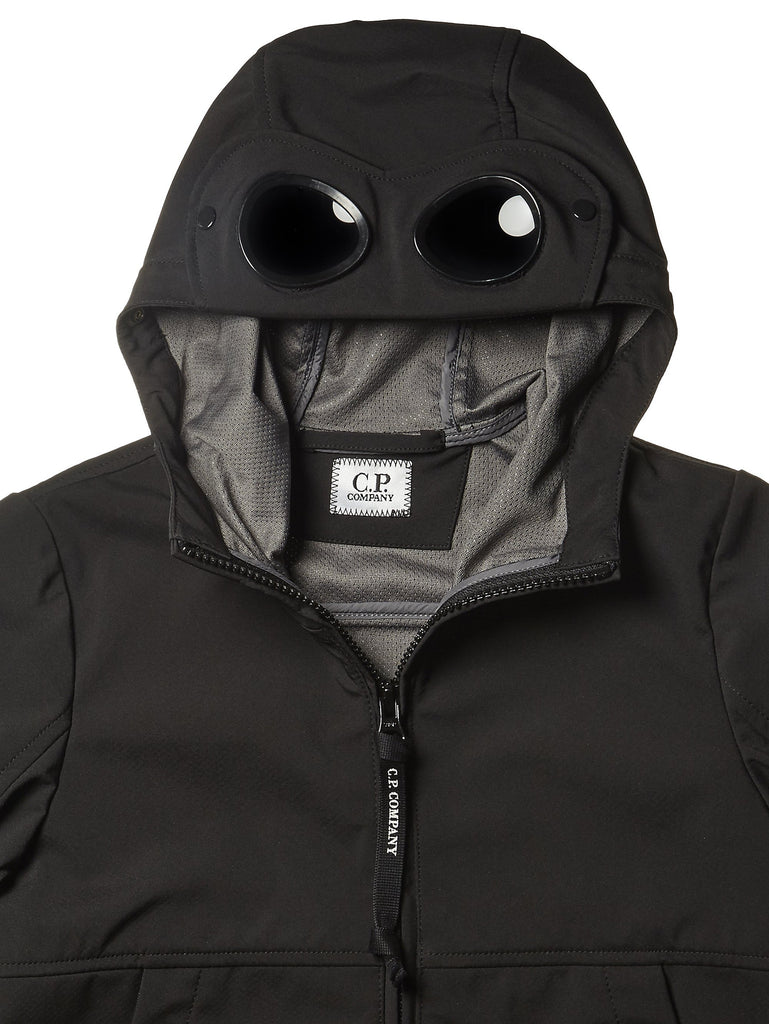 C.P. Company Undersixteen Soft Shell Goggle Jacket in Black