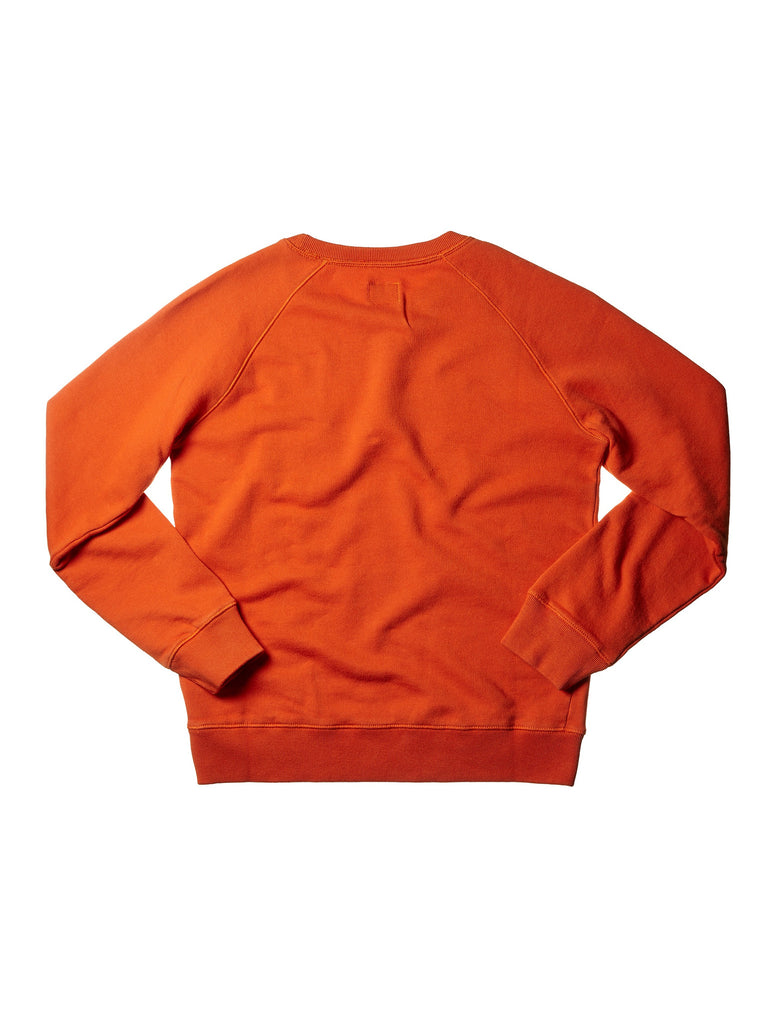 C.P. Company Undersixteen Garment Dyed Pocket Sweatshirt in Orange