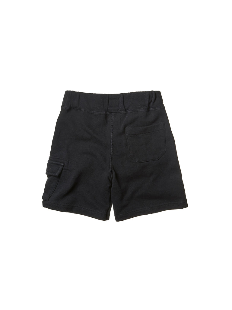 C.P. Company Undersixteen Light Fleece Shorts in Black