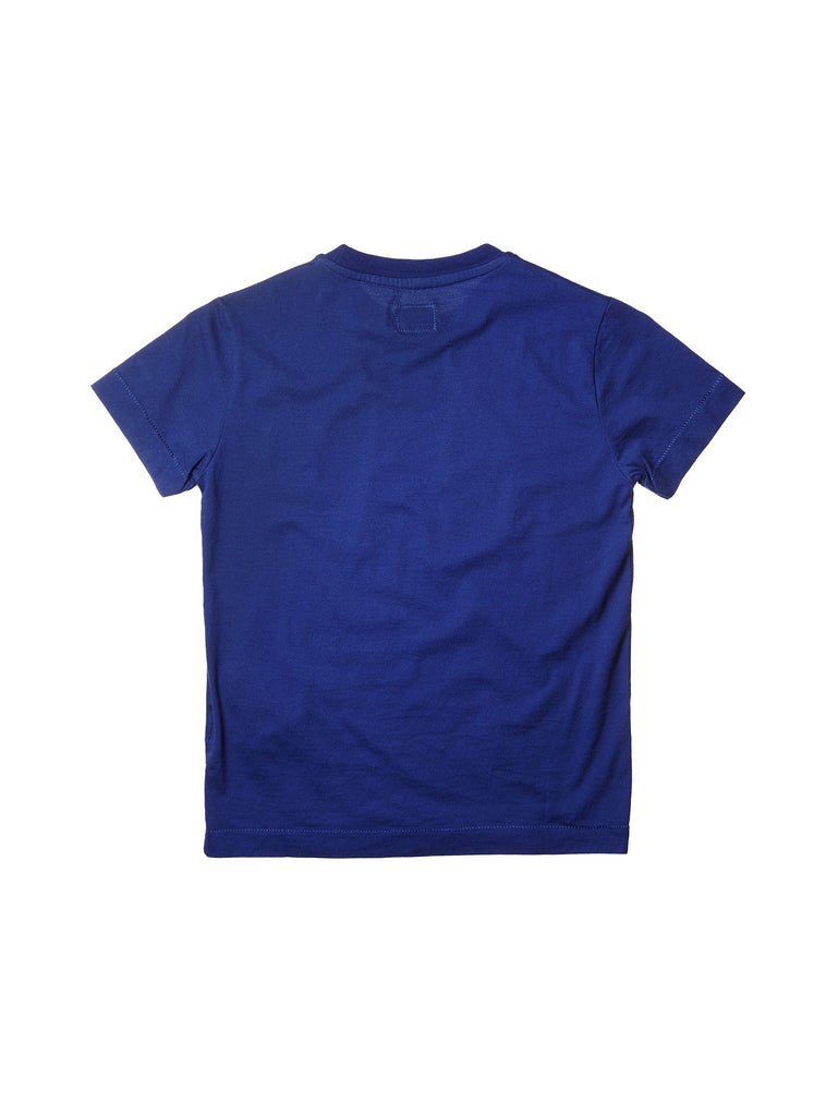 C.P. Company Undersixteen Graphic Label Print T-Shirt in Blue