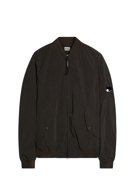C.P. Company Nycra Bomber Jacket in Brown