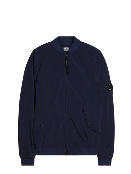 C.P. Company Nycra Bomber Jacket in Blue