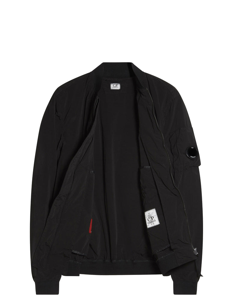 C.P. Company Nycra Bomber Jacket in Black
