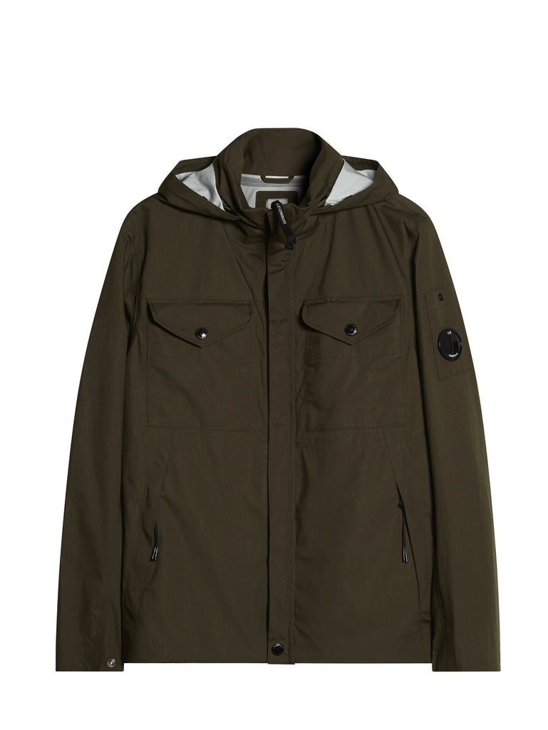 C.P. Company T-Mack Jacket with Removable Hood in Green