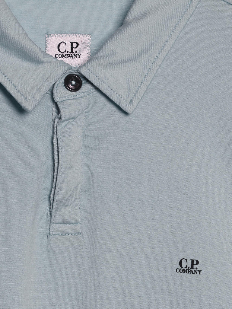 C.P. Company GD Jersey SS Polo in Light Blue