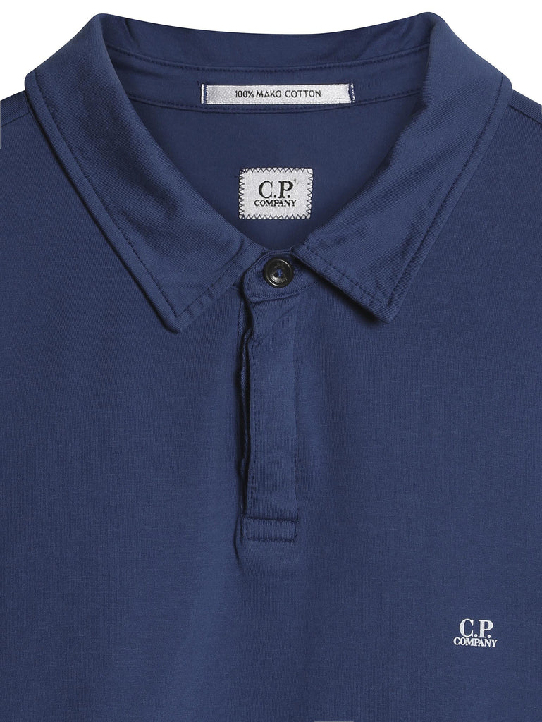 C.P. Company GD Jersey SS Polo in Blue