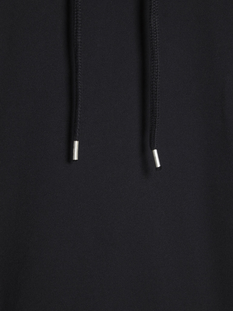 C.P. Company Garment Dyed Light Fleece Hoodie in Black