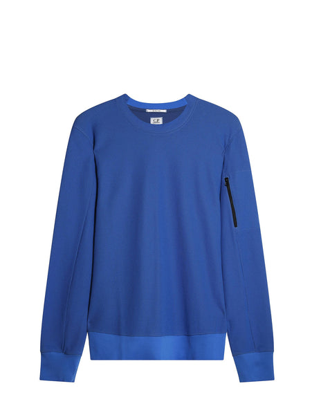 C.P. Company Double Dyed 3D Tacting Sweatshirt in Blue