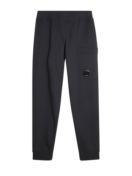 C.P. Company Diagonal Fleece Trackpants in Navy