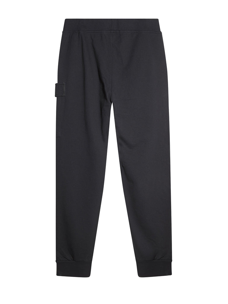 C.P. Company Diagonal Fleece Cargo Trackpants in Navy