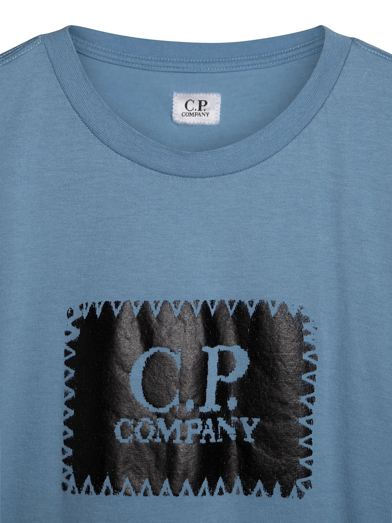 C.P. Company Crew Neck Logo T-shirt in Blue
