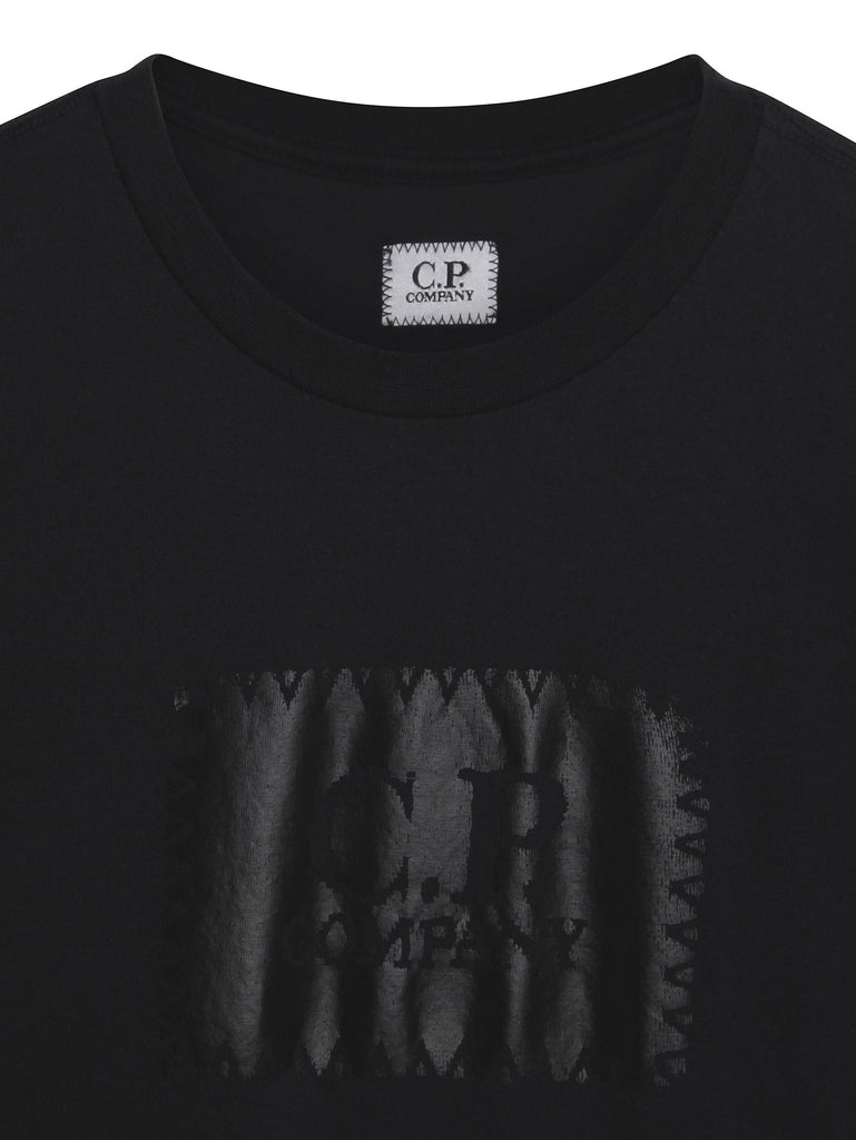 C.P. Company Crew Neck Logo T-shirt in Navy