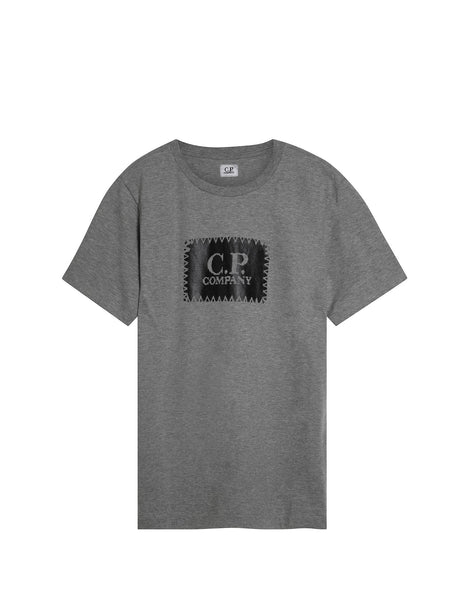 C.P. Company Crew Neck Logo T-shirt in Grey