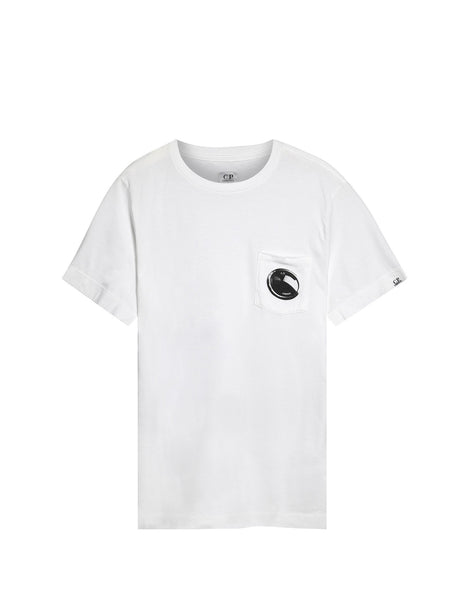 C.P. Company Crew Neck Printed Pocket T-shirt in White