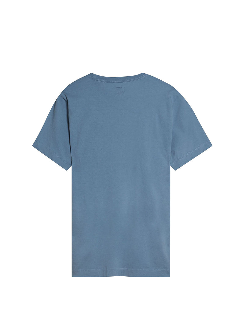C.P. Company Crew Neck Printed Pocket T-shirt in Blue