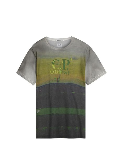 C.P. Company Crew Neck Digital Print T-shirt in Multicolour