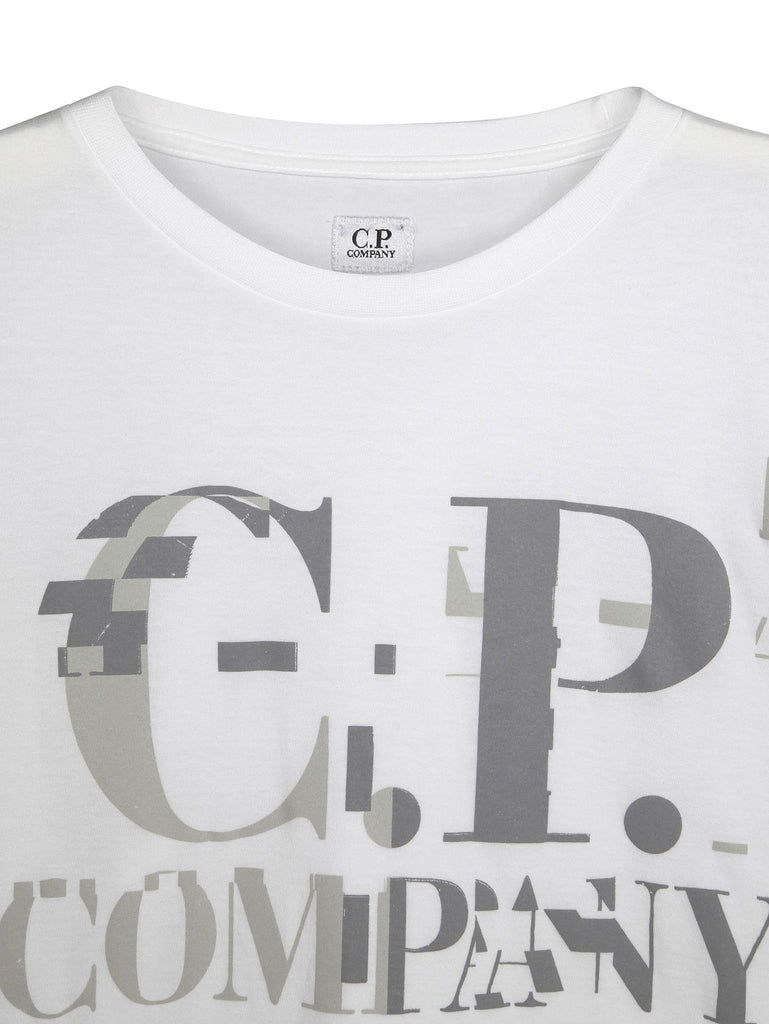 C.P. Company Crew Neck Digital Print T-shirt in White