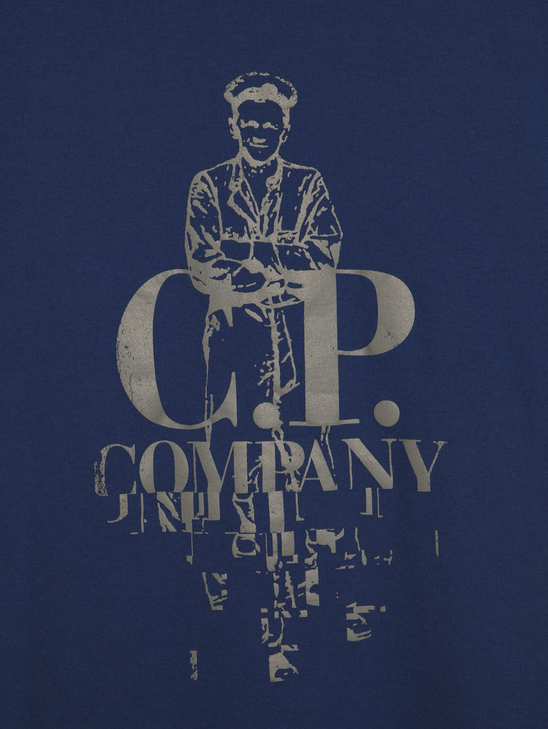 C.P. Company Sailor Print T-shirt in Navy