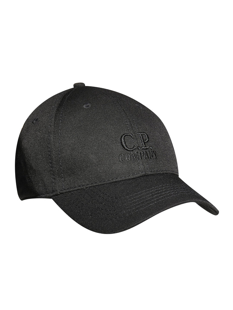C.P. Company Winter Soft Shell Baseball Cap in Black