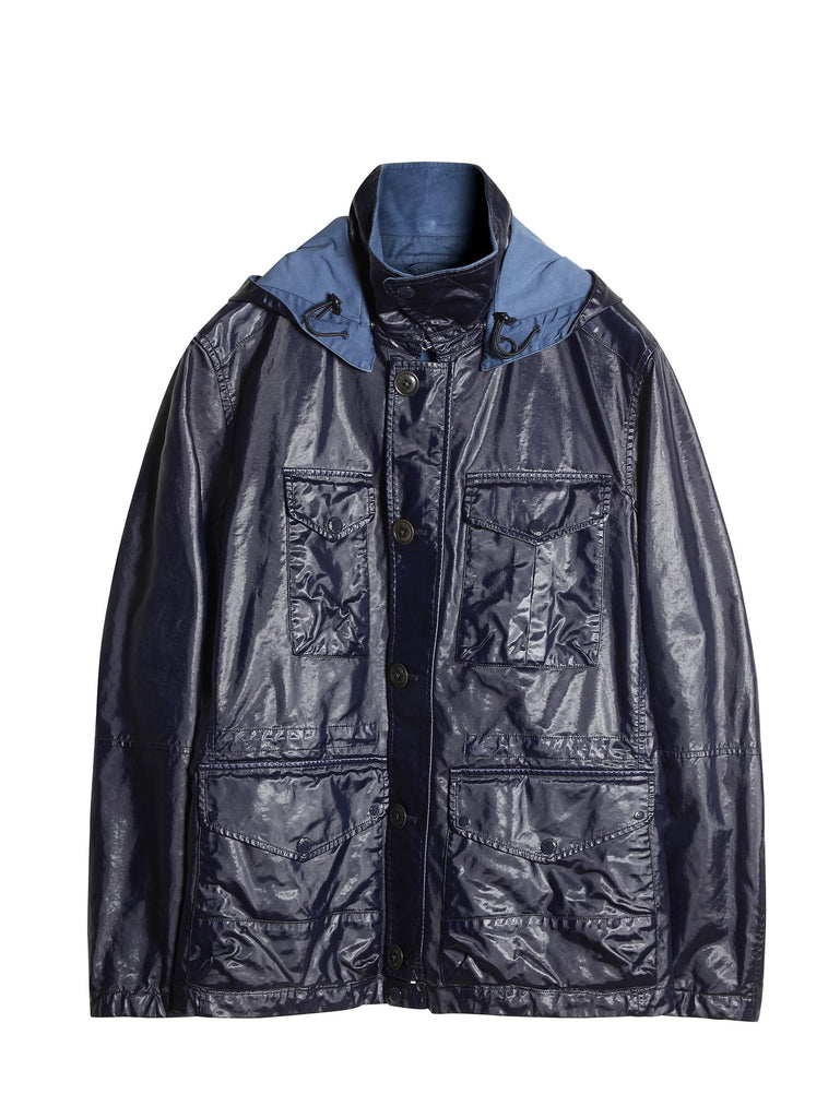 C.P. Company Rubber Goggle Jacket in Blue