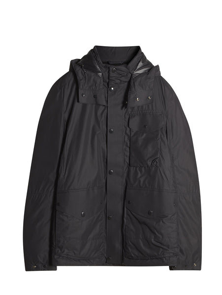 C.P. Company Micro-M 3-Pocket Goggle Jacket with Down Lining in Black
