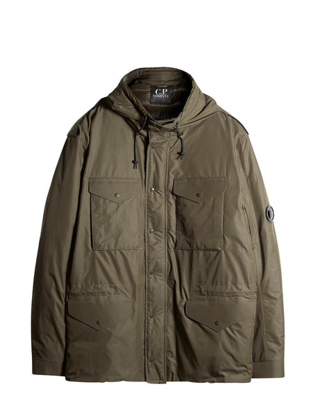 C.P. Company Micro-M Field Jacket With Down Lining In Green