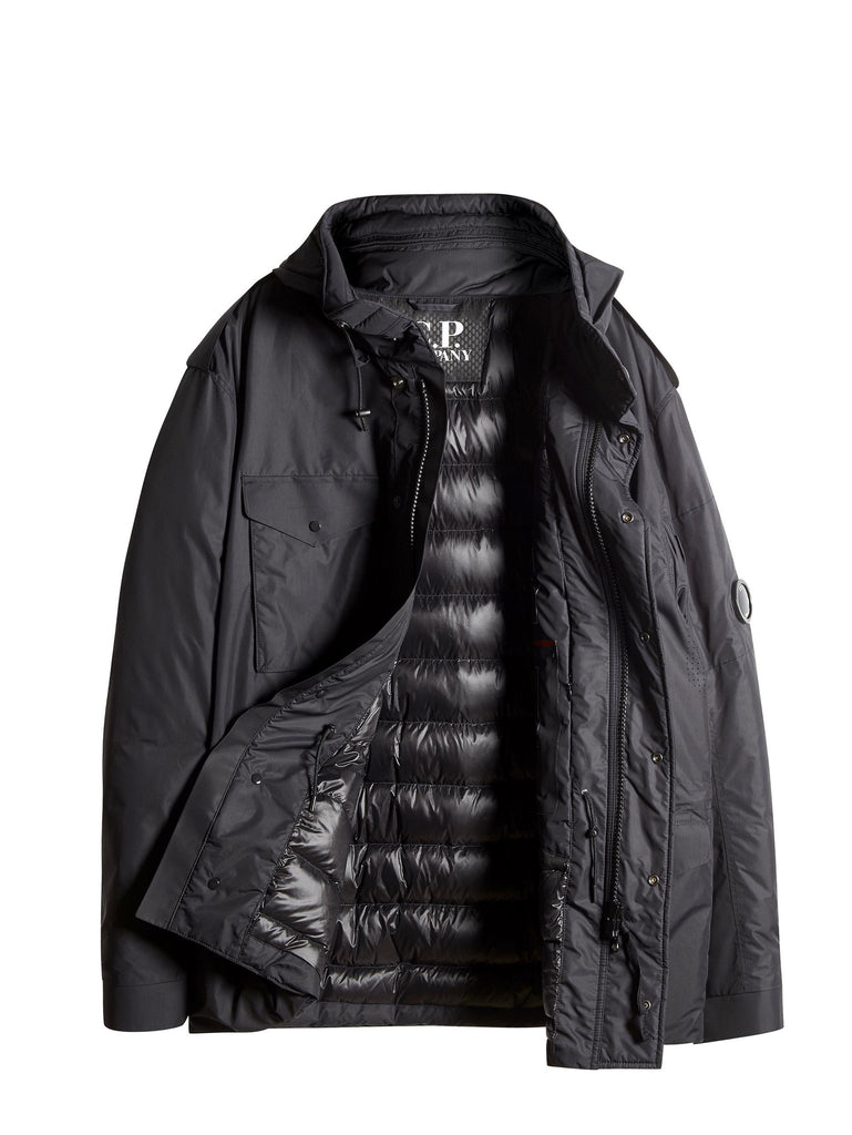 C.P. Company Micro-M Field Jacket With Down Lining In Black