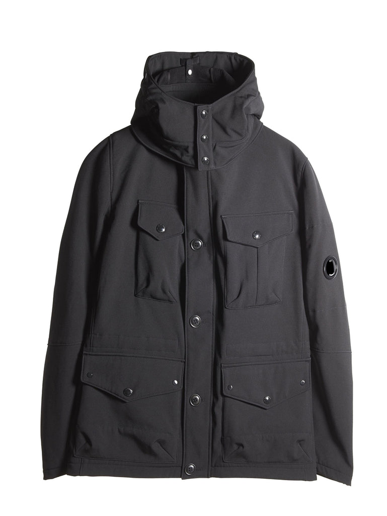 C.P. Company Shell Goggle Field Jacket in Black