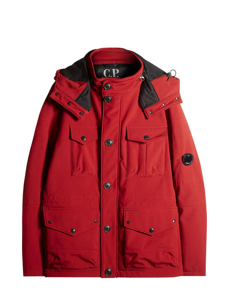 C.P. Company C.P. Shell Goggle Field Jacket In Red