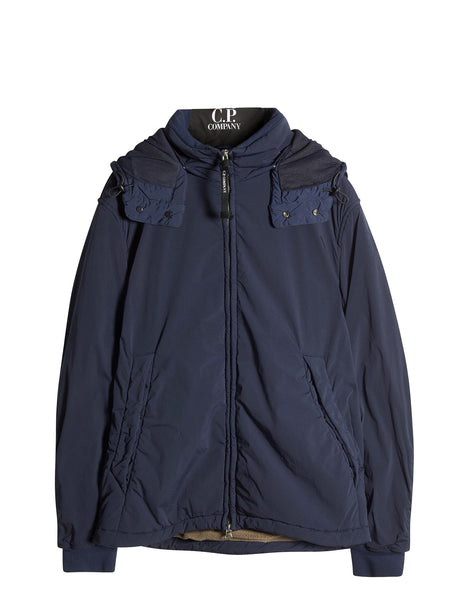 C.P. Company NYCRA Goggle Hooded Jacket in Blue