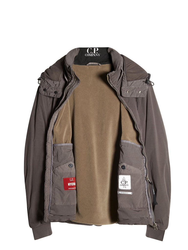 C.P. Company NYCRA Goggle Hooded Jacket in Grey